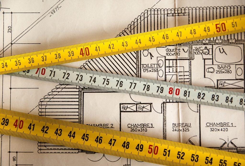 Mètres sur le plan d'un logement